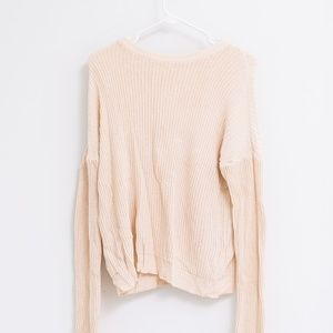 Brandy Melville Cream Cable Knit Sweater